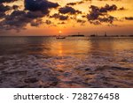 sandy coast and clear sea of... | Shutterstock . vector #728276458