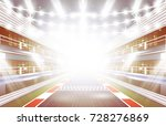 race track arena with... | Shutterstock .eps vector #728276869