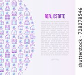 real estate concept with thin...   Shutterstock .eps vector #728278546