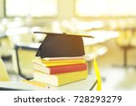 graduation cap is upper... | Shutterstock . vector #728293279