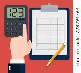businessmen calculating concept ... | Shutterstock .eps vector #728294764