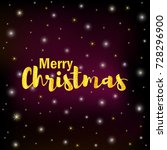 gold text merry christmas on... | Shutterstock .eps vector #728296900