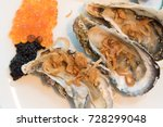 Small photo of Caviar is a delicacy consisting of salt-cured fish-eggs of the Acipenseridae family, good taste with fresh oyster