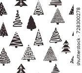 seamless black and white... | Shutterstock .eps vector #728300278
