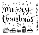 merry christmas greeting card... | Shutterstock .eps vector #728300290