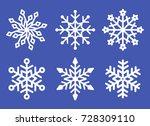 set of laser cutting openwork... | Shutterstock .eps vector #728309110