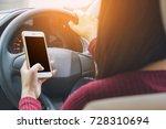 asian woman using smart phone...   Shutterstock . vector #728310694