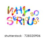 why so serious  vector... | Shutterstock .eps vector #728320906