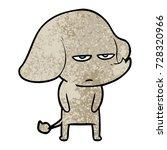 annoyed cartoon elephant | Shutterstock .eps vector #728320966