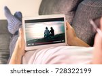 online movie stream with mobile ... | Shutterstock . vector #728322199