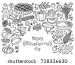 happy thanksgiving day greeting ...   Shutterstock .eps vector #728326630