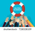 helping business to survive.... | Shutterstock .eps vector #728328109