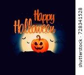 happy halloween. holiday... | Shutterstock .eps vector #728341528