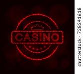 casino icon. casino emblem... | Shutterstock . vector #728341618