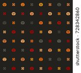 halloween multicolor pattern... | Shutterstock .eps vector #728342860