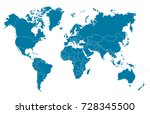 world map | Shutterstock .eps vector #728345500