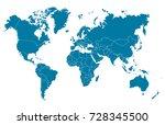 world map | Shutterstock .eps vector #728345500