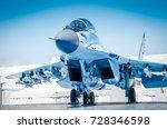 fighter plane. military fighter ... | Shutterstock . vector #728346598