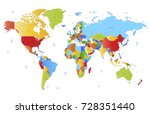 color world map | Shutterstock .eps vector #728351440