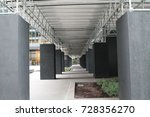 bridge   shelter   pillars  ...