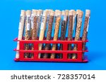 test tubes with bar codes with... | Shutterstock . vector #728357014