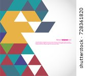 background of geometric shapes. ... | Shutterstock .eps vector #728361820