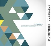 background of geometric shapes. ... | Shutterstock .eps vector #728361829