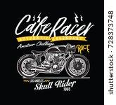 vector vintage motorcycle... | Shutterstock .eps vector #728373748