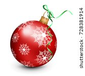 vector christmas ornament with... | Shutterstock .eps vector #728381914