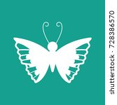 butterfly icon vector | Shutterstock .eps vector #728386570
