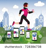 female jogger | Shutterstock .eps vector #728386738