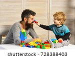family and childhood concept....   Shutterstock . vector #728388403