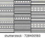 set of scandinavian flat style... | Shutterstock .eps vector #728400583