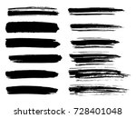 painted grunge stripes set.... | Shutterstock .eps vector #728401048