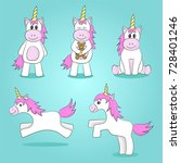 vector illustration of cute... | Shutterstock .eps vector #728401246