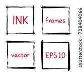 hand painted ink frames set ink ... | Shutterstock .eps vector #728404066
