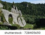the remnants of the fortress in ... | Shutterstock . vector #728405650
