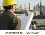 Construction Project Manager - stock photo