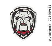 bulldog mascot logo design... | Shutterstock .eps vector #728409658