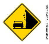 landslide  caution falling... | Shutterstock .eps vector #728412208
