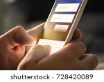 login with smartphone to online ... | Shutterstock . vector #728420089