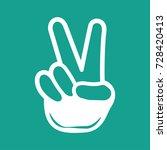 hand emoticon icon vector | Shutterstock .eps vector #728420413