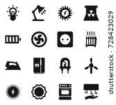 16 vector icon set   bulb ... | Shutterstock .eps vector #728423029