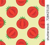vector seamless pattern of... | Shutterstock .eps vector #728425138