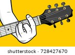 Guitar Player Hand Playing D...
