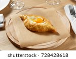 khachapuri in adjara on a... | Shutterstock . vector #728428618