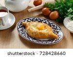 khachapuri in adjara on a... | Shutterstock . vector #728428660