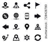 16 vector icon set   pointer ... | Shutterstock .eps vector #728428780