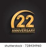 22 years anniversary... | Shutterstock .eps vector #728434960