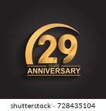 29 years anniversary... | Shutterstock .eps vector #728435104